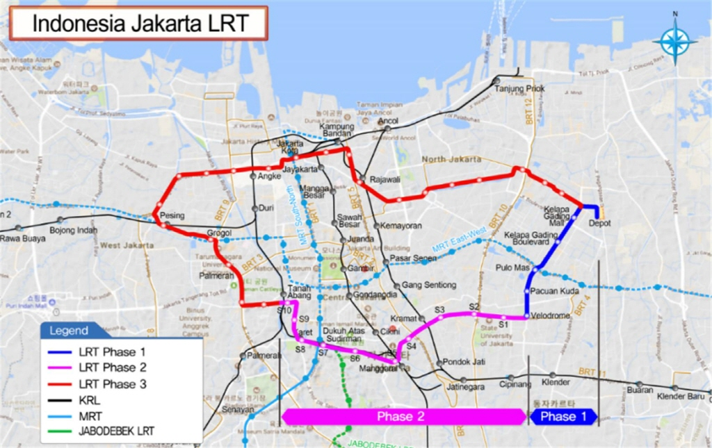 Demand Analysis Review for Feasibility Study of Jakarta Light Rail Transit (LRT) Phase 3, Indonesia