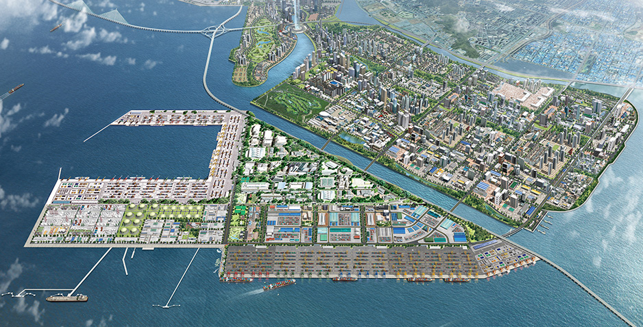 Preliminary and Detailed Engineering Design for Hinterland Development in Incheon New Port (Phase I)